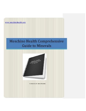 Meschino Health comprehensive Guide to Minerals